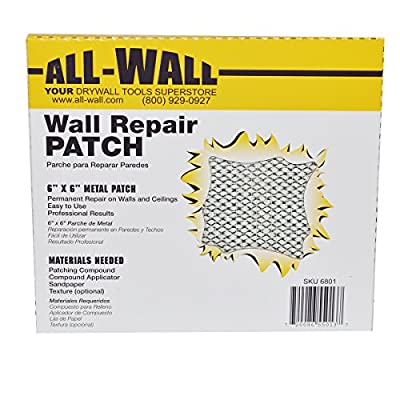 All-Wall Drywall Repair Patches - Metal Aluminum Stick-On Adhesive Wall Patch