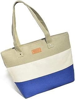 Fashion Canvas Shopping Bag Women Striped Bag Fashion Color Printing Lady Girls Handbags Shoulder Bag Casual Bolsa Shopping Bags