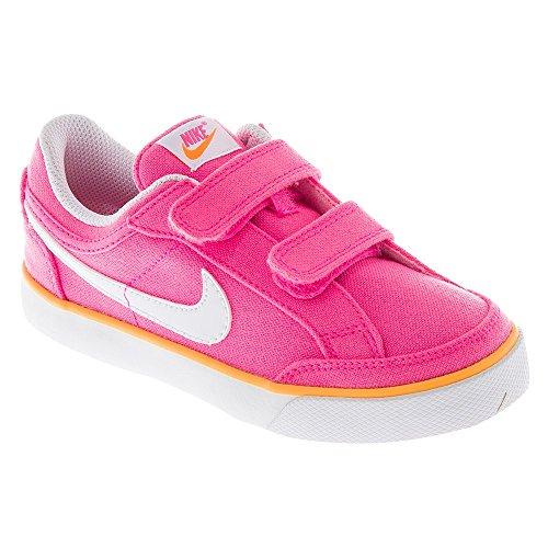Nike Capri 3 TXT (PSV), Zapatillas de Tenis Niñas, Rosa/Blanco/Amarillo (Pink Glow/White-Atomic Mango), 32