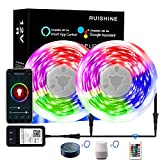 Led Light Strip 40 Ft WiFi, Smart App Controlled 360pcs RGB Light Strip Alexa, Led Rope Light Sync to Music with APP Controller, Led Tape Lights Work with Google Home for Bedroom Halloween Christmas
