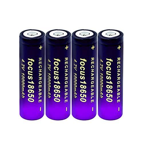 THENAGD Batterie al Litio Ad Alta Potenza 3.7v 18650 10000mah agli Ioni di Litio, Cella di Ricambio per Il Computer Portatile con Telecomando della Fotocamera 4pieces