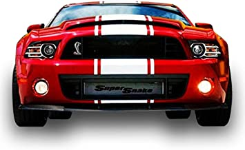 Bubbles Designs Decal Sticker Graphic Front to Back Stripe Kit Compatible with Ford Mustang GT 2005-2014 Shelby GT500