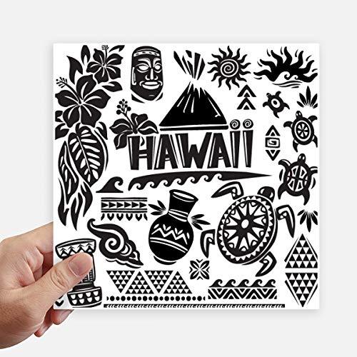 DIYthinker Hawaiiaanse eilanden vieren Silhouette Amerika Square Stickers 20Cm muur koffer Laptop Motobike Decal 4 Stks