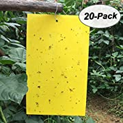 Gingbau Yellow Sticky Traps for Plant Insect Control
