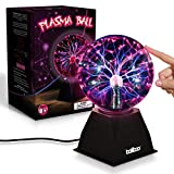 Plasma Ball Light, 6 Inches | Touch and Sound Activated Lightning Globe | Magical, Interactive, Mood Setting, Fun and Science Lamp | Prop for Parties | 6ft Electric Cord | for Kids and Adults Alike