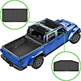 Alien Sunshade Jeep Gladiator Sun Shade (2018-Current)- Front & Rear Mesh Sunshade for Jeep Gladiator 4 Door, Reduces Wind & Noise – Universal Fit for Jeep Gladiator Accessories - (Black)