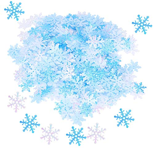 Party Snowflakes Decoration, 600pcs Light Weight Exquisite Snowflakes Decoration, Blue White Non-Woven Fabric for Christmas