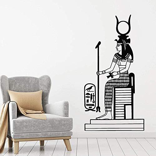 Pegatinas de vinilo para pared Decoración de pared Pegatinas de bricolaje Mitología egipcia Comercio Pared Diosa Hathor Historia antigua Estilo egipcio Puerta y ventana 45 cm × 65 cm