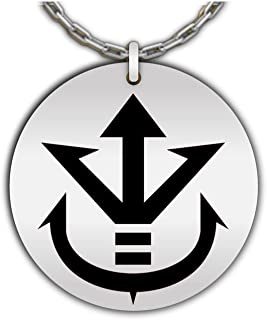 Saiyan Royal Family Symbol - Crest of Vegeta, Dragonball Z Pendant | Stainless Steel Necklace