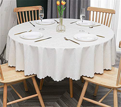 Stafeny Panjzylds Nappe ronde en PVC facile à nettoyer pour décoration de table ronde (diamètre 160 cm)