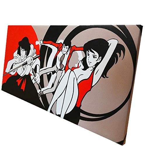 tela lupin Quadro Tela Canvas arredo con telaio legno LUPIN stampa su tela quadro modern (140x70)