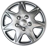 Drive Accessories KT915-17S/L ABS Silver 17' Plastic Wheel Cover Hubcap - Pack of 4