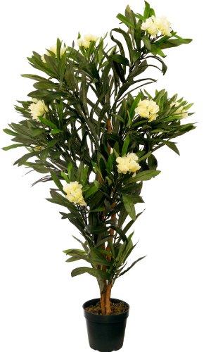 McPalms Oleander 1,20 m künstlich Kunstbaum Kunstpflanze Echtholzstamm