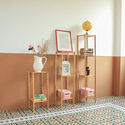 HONIC Set von 3, Sortiert Tiered Holz Pflanzenständer Garten-Blumen Bonsai Display Rack Regal für Peace Lily Pflanzen: Vereinigte Staaten, Groß