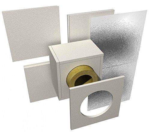 Joseph Raab Brandschutz-Decken-Wanddurchführung für Kaminrohr DN 130 mm für Wandstärke 120 mm