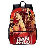 Mochila Infantil 3D mochila para niño Ranger Solo: Una historia de Star Wars Han Solo Adecuado para: estudiantes de primaria y secundaria, la mejor opción para viajes al aire libre Tamaño: 45x30x15