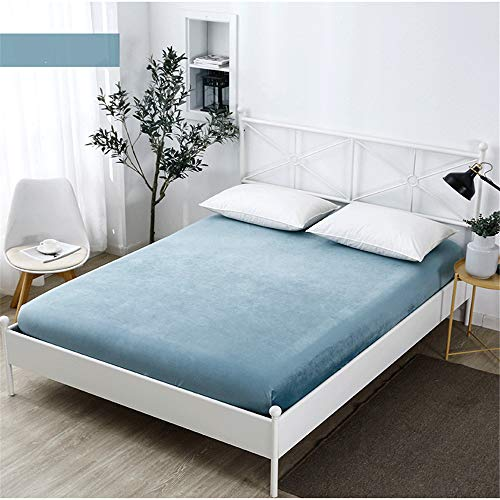 Matratzenschoner, Dicke Premium-Matratze, rutschfest, tragbar, Schlafen, Kristallsamt, hypoallergen,A2 120 * 200 + 30 cm