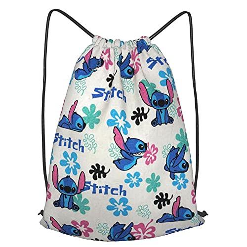 Yaulxec Mochila con cordón, gran bolsa de gimnasio impermeable, bolsa de yoga deportiva, regalos adecuados para niñas y niños, bolsa de compras de 19 x 16 pulgadas
