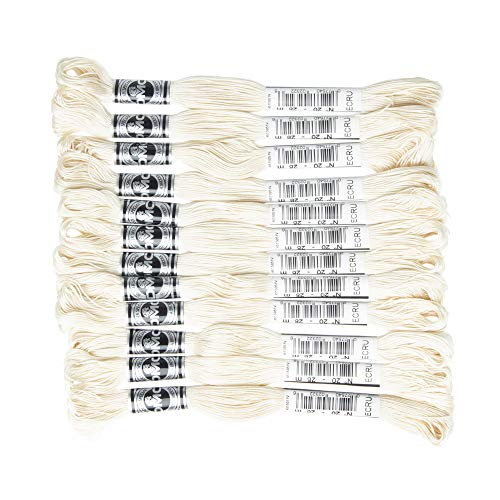 DMC アブローダー 刺繍糸 12束入 20番 28m #ECRU ホワイト系 DMC10720B
