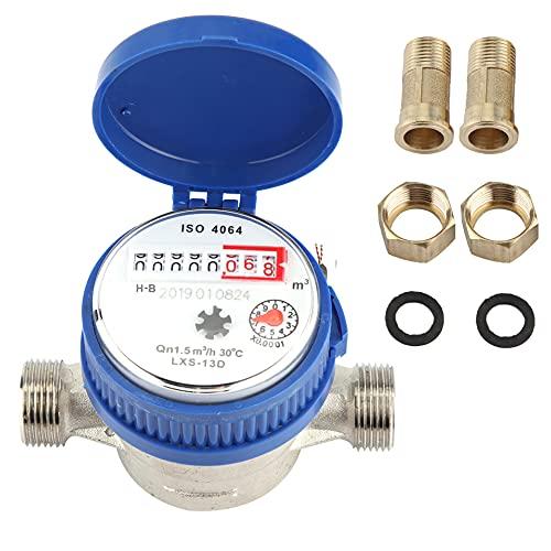 AYNEFY Contador de agua QN 1,5, agua fría, flujo de 1/2 pulgadas,...