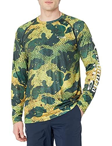 Columbia Super Terminal Tackle - Camisa de Manga Larga para Hombre, Hombre, Super Terminal Tackle Camisa de Manga Larga, 170943, Dorado Camo, Medium