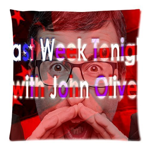 Last Week Tonight with John Oliver Pattern Custom Personalized Zippered Pillowslips Cushion Cover Pillow Cases Standard Size 18x18 (Twin sides)