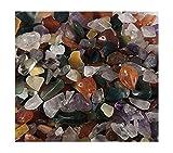 1 sacchetto 100g colorato mista forma irregolare pietre burattate roccia gemme chip Amesii