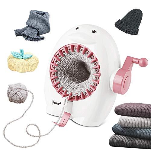 FYGAIN Máquina de tejer, máquina de telar de 22 agujas con contador de filas, telar redondo inteligente para adultos / niños