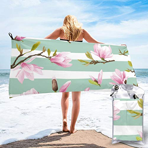 N/F Magnolia Flowers Bath Towels Large Bath Towel Set Super Absorbent And Fast Drying For Bathroom And Beach 2 Sizes Personalized