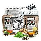 Cata de té Set l Caja de regalo para probar tés de todo el mundo | 12x25g Tea World Gift Idea Set de regalo para mujeres Hombres | caja de té especial caja de regalo cumpleaños navidad