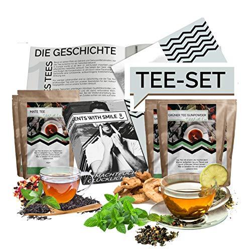 Tee Probierset Tees aus aller Welt Geschenkbox | 12x25g Tee Weltreise Geschenkidee Geschenkset für Frauen Männer | Tee Box Geschenk Box Geburtstag Weihnachten