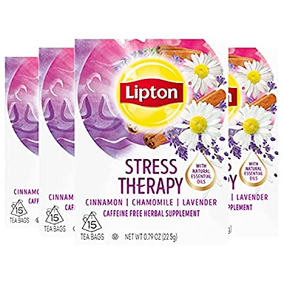 Lipton Herbal Supplement, Stress Less 15 ct, Pack of 4 by UNDA7 - pallet ordering
