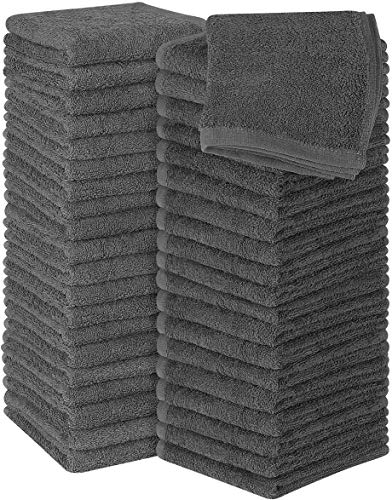 Utopia Towels Cotton Grey Washcloths Set - Pack of 60 - 100% Ring Spun Cotton, Premium Quality Flannel Face Cloths, Highly Absorbent and Soft Feel...