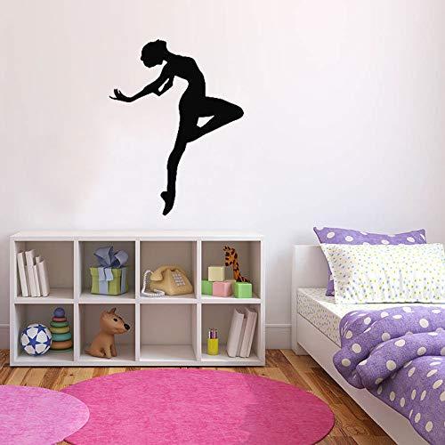 yaonuli Balletdansers, wandtattoos, dansruimte, kinderkamer, decoratie, lichaamspiercontouren, ramen, vinyl stickers