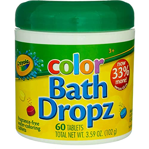 Colorant de bain Crayola 60 tablettes bocal de 106,1 ml