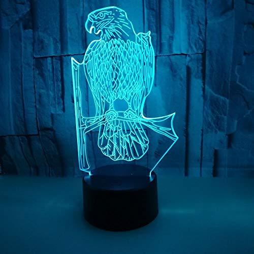 Jiushixw 3D-nachtlampje van acryl, met afstandsbediening, tafellamp met kleurverandering, Angel Touch Gift Yingying, grote tafellamp, op zonne-energie