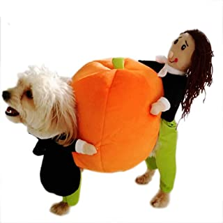 Momo pet Dog cat Costume Dog Halloween Christmas Apparel Clothes Carrying Pumpkin Funny Fancy Jumpsuit Puppy Cosplay Outfit Suit Jacket Keep Warm in Winter for Small Medium Dogs and Cats