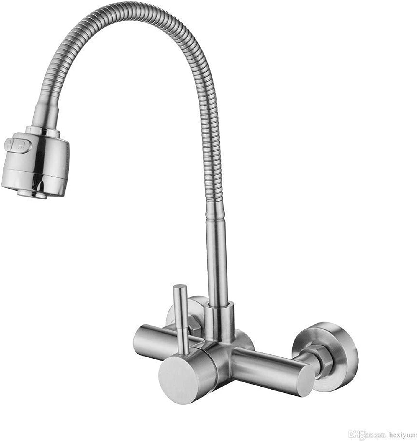 Oudan Kitchen Faucet 304 Stainless Steel in The Hot and Cold Faucet of The Bathtub Wall (color   -, Size   -)
