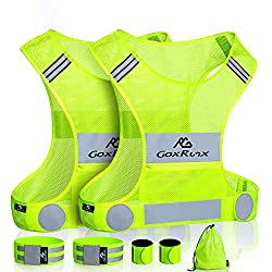 commercial Two reflective vests, chassis, ultra-lightweight and comfortable reflective bike vest and large … bike vest reflective