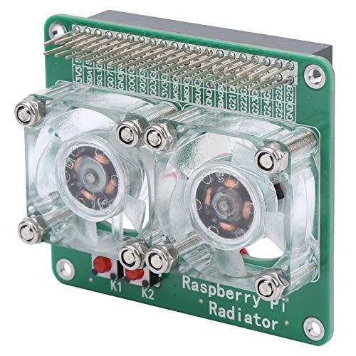 DC5V Aspberry Pi Radiador Inteligente Transparente Disipador de Refrigeración Dual Ventilador de Enfriamiento Inteligente Raspberry Pi 3A+3B 3B+4B para Refrigeración