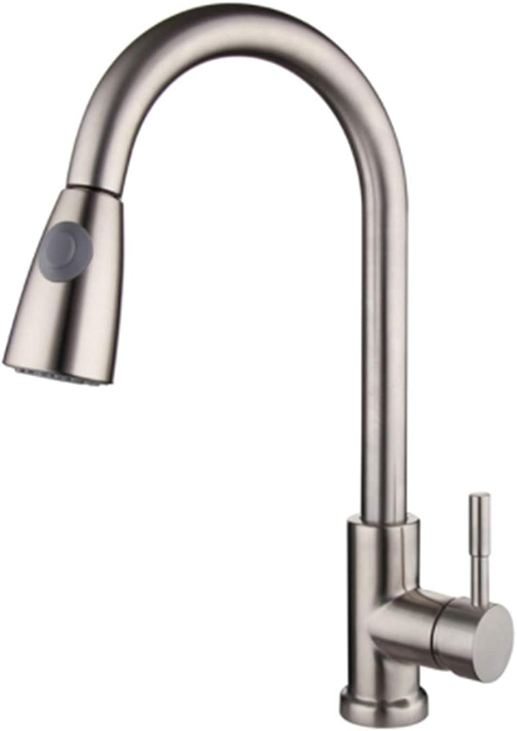 Taps Kitchen Basin Mixer Pull Out Mixerpull Out Kitchen Faucets 2 Ways Water Outlet Taps Mixer Hot and Cold Faucet Kitchen Single Handle Brushed Finish with Water Pipe