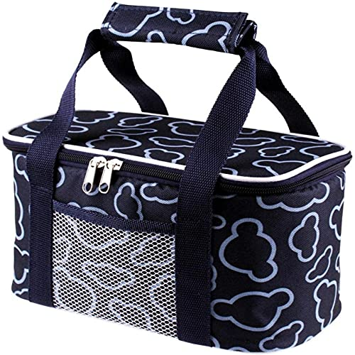 MVNZXL Lunch Bag Small and Thick Oxford Cloth Thermal Insulation Lunch Box Multifunctional Waterproof Picnic Bag Foldable Suitable for Picnic Camping BarbecueColor5l Drak Blue