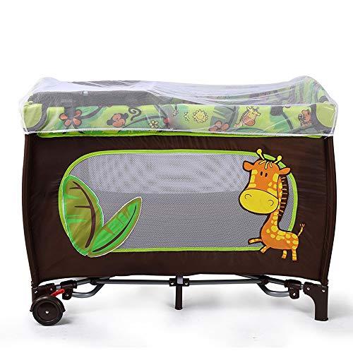 ZRWZZ babybedje, in hoogte verstelbare wieg, slaapwieg aan het bed, pasgeboren reiswieg met wielen, afneembare opvouwbare wieg met muskietennet, veiligheid gevoerde draagbare wieg, 104X78X76cm