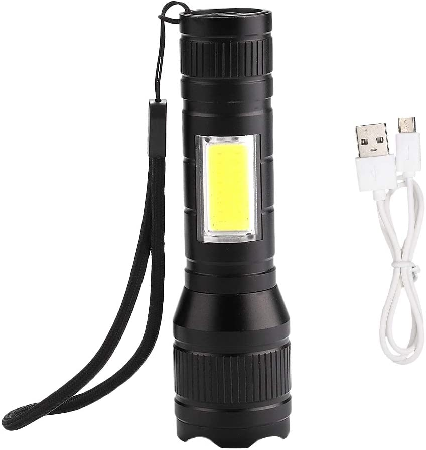 LED Flashlight Outdoor Torch 3 Modes Spring new work one after another Bright COB T6 Light Memphis Mall Super