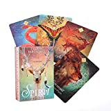 GYNFJK Tarot Cards Deck Games Versión en inglés Tarot Card The Spirit Animal Oracle Juego de Mesa para Fiestas Familiares Juegos Divertidos
