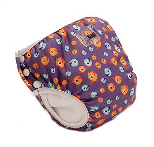 Bambinex 2er SPARPACK ** 2in1 Swim n Train ** Schwimmwindel + TrainerPant in Einem ! (Large (14-20kg), Lucky Purple)