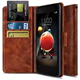 Wallet Case for LG Aristo 2 X210/LG Rebel 3 LTE L158VL/LG Rebel 4 4G LTE/LG Tribute Dynasty/LG K8+ 2018/ LG Phoenix 4, OTOONE [Flip Folio] PU Leather Protective Phone Cover with Kickstand (Bronze)