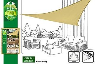 Aktive Garden 53905 - Toldo Vela Triangular Crema 360 x 360
