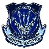 自衛隊グッズ 海上自衛隊 小月 ホワイトアローズ ピンズ 22mm