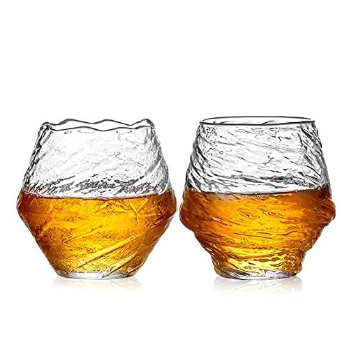 Glacier Modello in vetro 2 pezzi Set 12.5oz più spesso Adatto per whisky Vetro Caffè BEVERAGE GLASS GLASSE GLASSE set